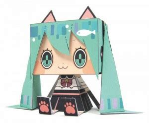 Nendoroid Papercraft - hatsune miku in the news birthday s new clothes