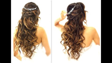 easy wedding  updo hairstyle  curls bridal