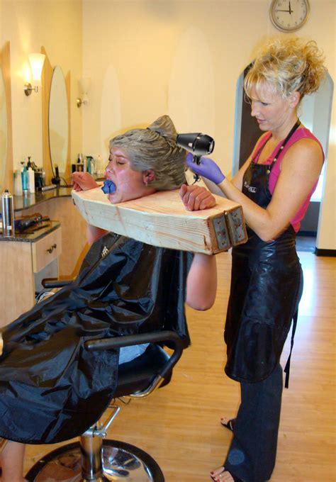 forced fem extreme beauty salon makeover 2106 coiffure bondage flickr