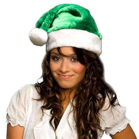 green santa hats tag hats