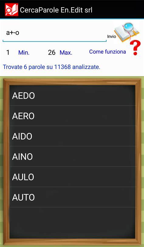 parole possibili con lettere cerca parole www giocando