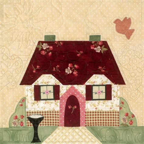 Patchwork House - house block applique quilting and sewing