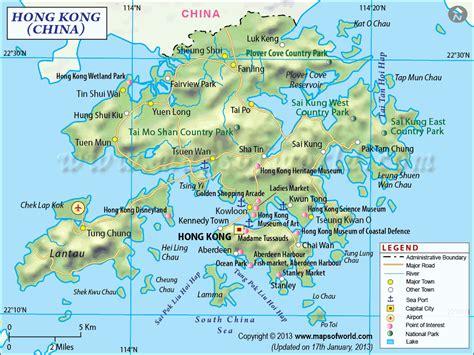 hong kong map toursmapscom