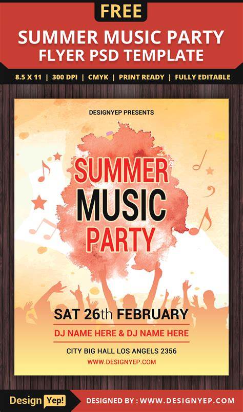 freepsdflyer download easy to use free summer flyer templates for