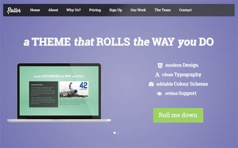 bootstrap themes roller roller landing multi page theme landing pages