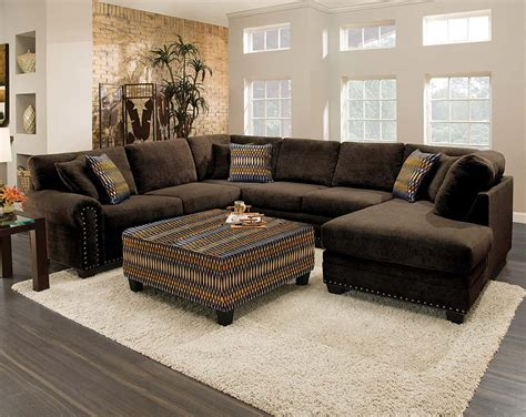 Brown Sectional Chocolate Brown Sectional Sofa With Chaise