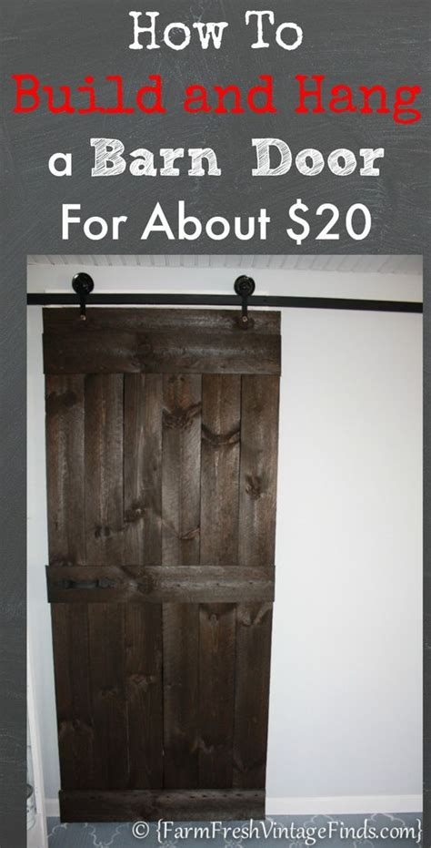 How To Build And Hang A Barn Door For Around 20 I Love How To Hang A Sliding Barn Door