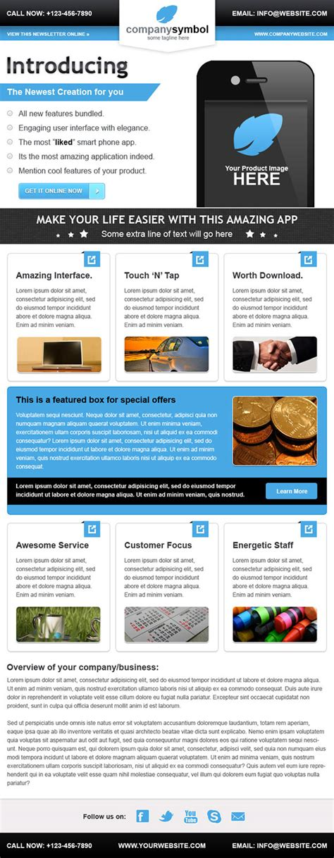 business email newsletter template behance