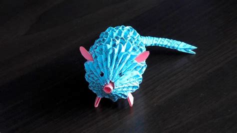 3d Origami Animals - 3d origami rat mouse assembly diagram tutorial