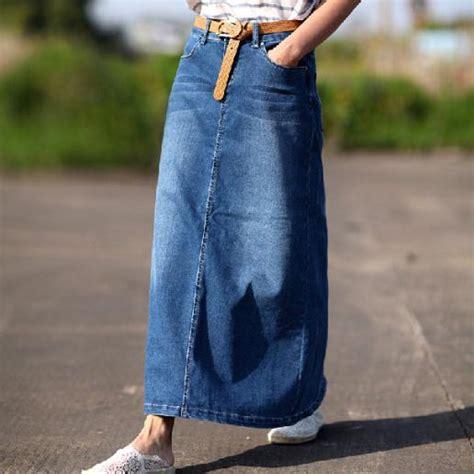 autumn winter fashion denim skirt casual plus