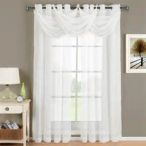 White Sheer Curtains With Grommets » Home Design 2017