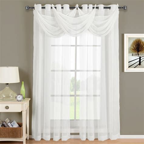 White Panel Curtains Abri White Sheer Curtain Panel For The Trendy Bed