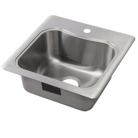 stainless steel single bowl kitchen sinks kohler staccato drop in stainless steel 20 in 1 single bowl kitchen sink k 3363 1 na the