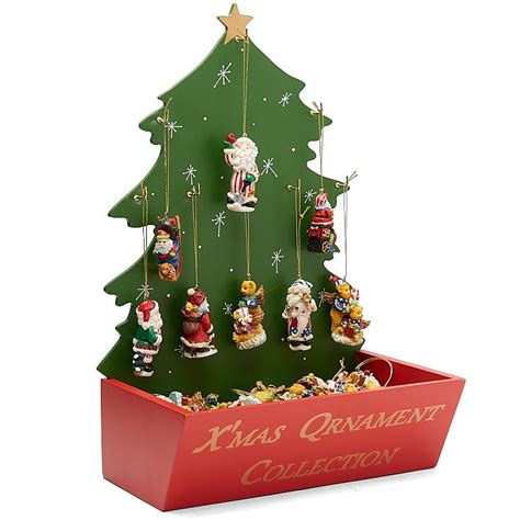 christmas ornament and display tree set christmas and