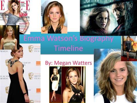 emma watson timeline ppt emma watson s biography timeline powerpoint