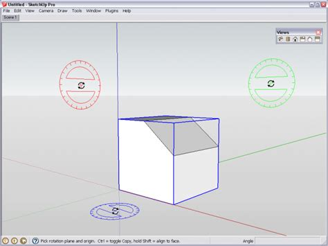 sketchup layout rotate view aligning the rotate and protractor tools sketchucation