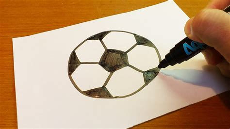 How To Make A Paper Soccer Easy - easy how to draw a soccer for hub