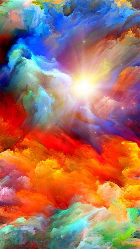 colorful clouds colorful clouds iphone wallpaper background iphone