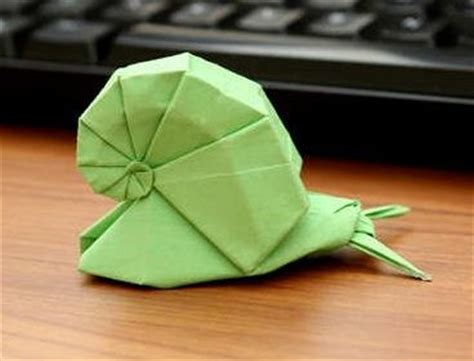 Origami Snail - animal origami snail para cuando tenga un rato