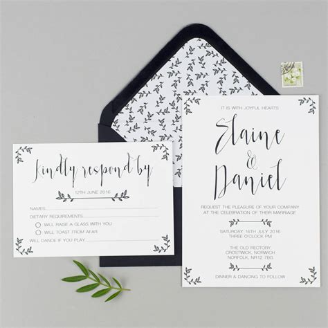 wedding invitations and rsvp modest wedding invitation and rsvp by eliza may