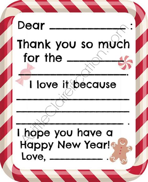 free printable christmas thank you cards for kids free 21 free printables for december a little claireification