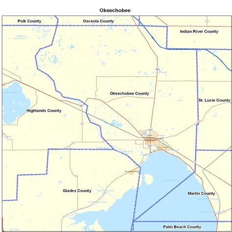 okeechobee county fl map florida map map of florida
