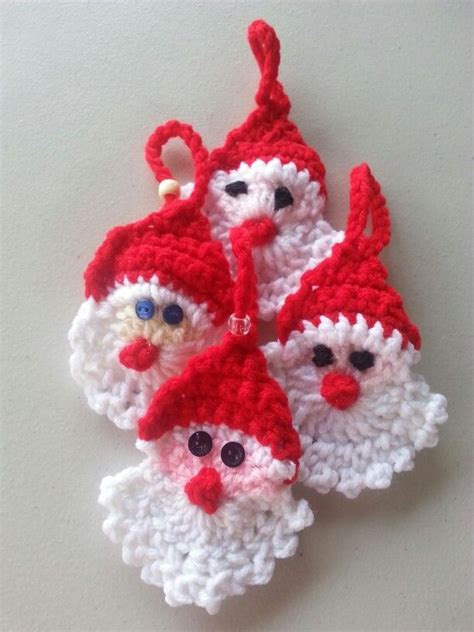 crochet santas christmas crafts pinterest