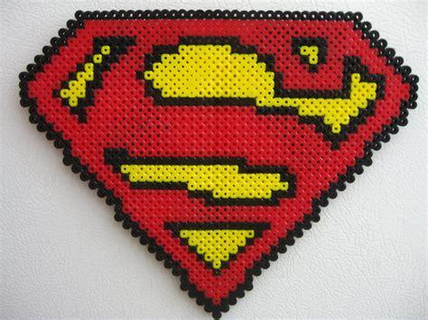 perler superman perler big superman logo by slimer530 on deviantart