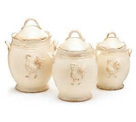 Country Canister Sets For Kitchen Rooster Provence Ceramic Country Kitchen