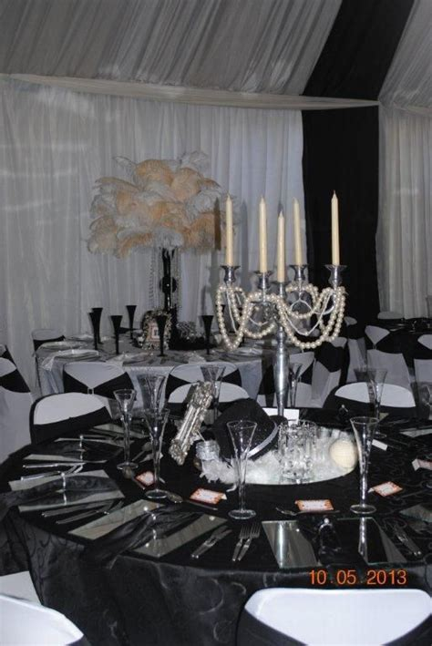 great gatsby themed ball great gatsby themed decor different piece at each table