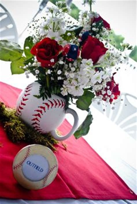 themes of lottery rose baseball theme centerpieces alex s bar mitzvah
