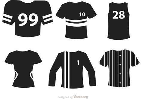 sport jersey black icons vectors   vectors