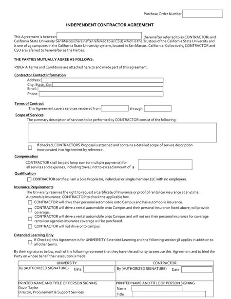 Independent Contractor Agreement Letter Sle Template For Independent Contractor Agreement 28 Images Commission Agreement Template 12