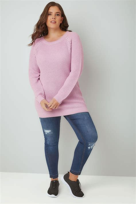 Raglan Android 02 lilac purple knitted raglan jumper plus size 16 to 36