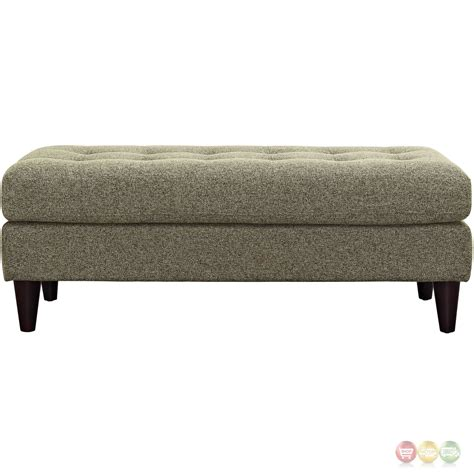 upholstered tufted bench empress modern upholstered bench with button tufted