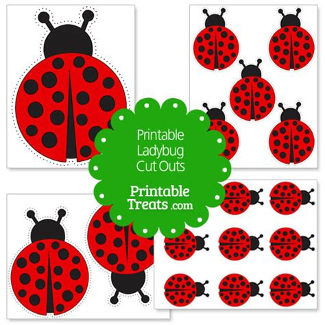 printable ladybug images printable ladybug cut outs printable treats com