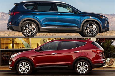 2019 Hyundai Size Suv by 2019 Hyundai Santa Fe Vs 2018 Hyundai Santa Fe Sport