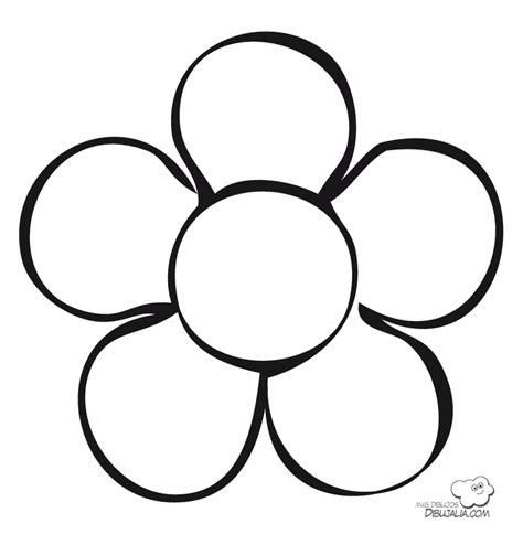 imagenes para colorear flor flor primaveral dibujalia dibujos para colorear