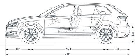 Audi S3 Dimensions by Dimension Audi A3 Sportback Auto Express