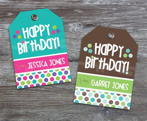 free printable birthday gift tags personalized personalized custom printable gift tags happy birthday