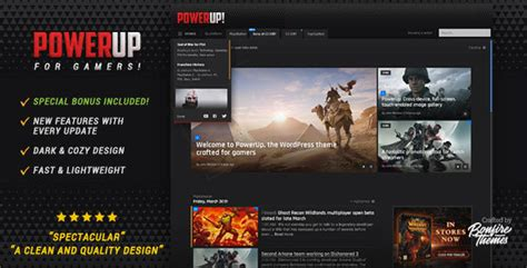 themeforest tumblr themes free download powerup video game theme for wordpress by bonfirethemes