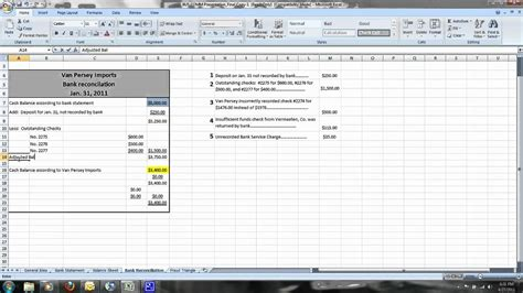 How To Do A Simple Bank Reconciliation Youtube Simple Bank Reconciliation Template