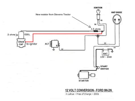 ford 8n 12 volt conversion wiring diagram ford free