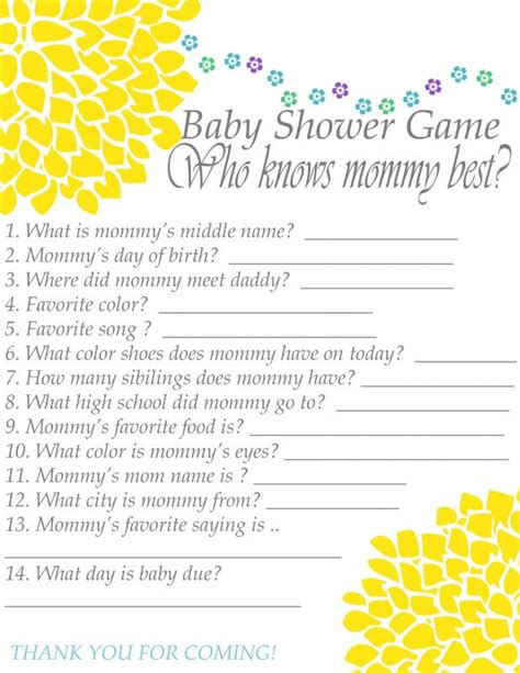 Knows Best Baby Shower by Who Knows Best Baby Shower Questions Baby