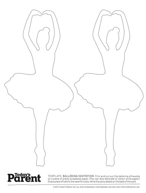 Ballerina Template ballerina template today s parent