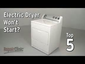 My Clothes Dryer Won T Start Dryer Repair Help How To Fix A Dryer Repairclinic