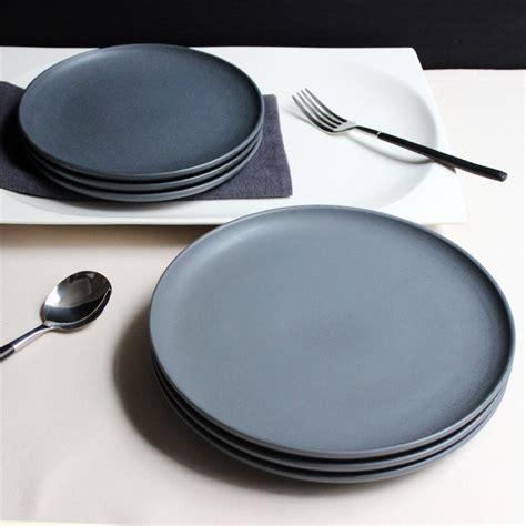 jk home 1 pcs ceramic plate bowl set sle gray