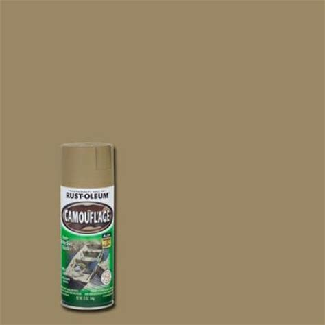 rust oleum specialty 12 oz khaki camouflage spray paint of 6 1917830 the home depot