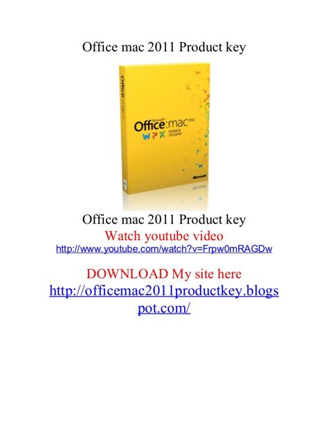 Microsoft Office 2011 Product Key 1