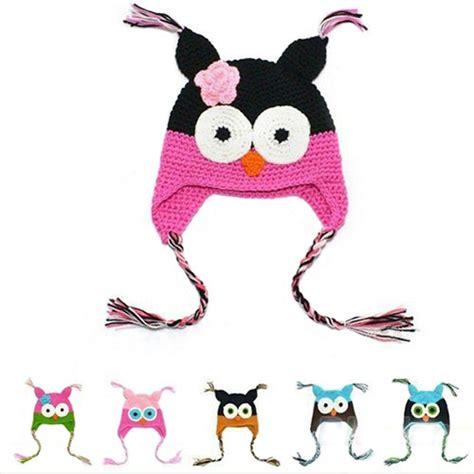 Topi Bayi 5 In 1 hat baby hat kartun multicolor bayi balita buatan tangan rajutan crochet burung hantu topi